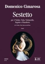 Cimarosa, Domenico : Sextet for 2 Violins, Viola, Violoncello, Bassoon and Piano [Score]