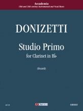Donizetti, Gaetano : Studio primo for Clarinet in B flat