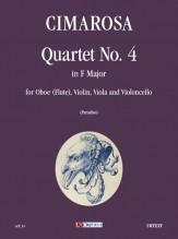 Cimarosa, Domenico : Quartet No. 4 in F Major for Oboe (Flute), Violin, Viola and Violoncello