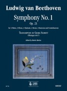 Beethoven, Ludwig van : Symphony No. 1 Op. 21 (Transcription by Georg Schmitt - Öhringen 1817) for 2 Flutes, 2 Oboes, 2 Clarinets, 2 Horns, 2 Bassoons and Contrabassoon [Score]
