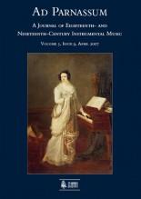 Ad Parnassum. A Journal on Eighteenth- and Nineteenth-Century Instrumental Music - Vol. 5 - No. 9 - April 2007