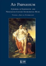 Ad Parnassum. A Journal on Eighteenth- and Nineteenth-Century Instrumental Music - Vol. 5 - No. 10 - October 2007
