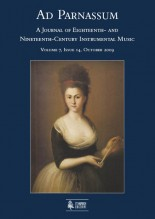 Ad Parnassum. A Journal on Eighteenth- and Nineteenth-Century Instrumental Music - Vol. 7 - No. 14 - October 2009