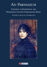 Ad Parnassum. A Journal on Eighteenth- and Nineteenth-Century Instrumental Music - Vol. 10 - No. 20 - October 2012