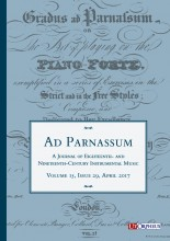 Ad Parnassum. A Journal on Eighteenth- and Nineteenth-Century Instrumental Music - Vol. 15 - No. 29 - April 2017