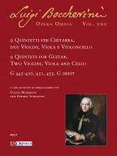 Boccherini, Luigi : 9 Quintets for Guitar, 2 Violins, Viola and Violoncello (G 445-450, 451, 453, G deest)