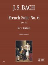 Bach, Johann Sebastian : French Suite No. 6 BWV 817 for 2 Guitars