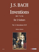 Bach, Johann Sebastian : Inventions BWV 772-786 for 2 Guitars - Vol. 2: Inventions Nos. 8-15
