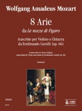 "Mozart, Wolfgang Amadeus : 8 Airs from ""Le Nozze di Figaro"" transcribed by Ferdinando Carulli (Op. 66) for Violin and Guitar"