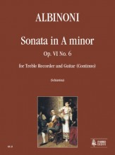 Albinoni, Tomaso : Sonata in A Minor Op. VI No. 6 for Treble Recorder and Guitar
