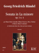 Handel, George Frideric : Sonata in A Minor Op. 1 No. 4 for Treble Recorder (Flute, Oboe, Violin) and Guitar