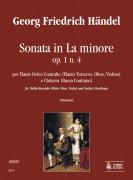 Handel, George Frideric : Sonata in A Minor Op. 1 No. 4 for Treble Recorder (Flute, Oboe, Violin) and Guitar