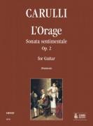 Carulli, Ferdinando : L'Orage. Sonata sentimentale Op. 2 for Guitar