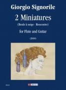Signorile, Giorgio : 2 Miniatures for Flute and Guitar (2010)