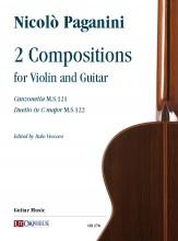 Paganini, Niccolò : 2 Compositions (Canzonetta M.S.121 - Duetto in C major M.S.122) for Violin and Guitar