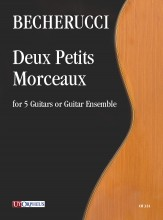 Becherucci, Eugenio : Deux Petits Morceaux for 5 Guitars or Guitar Ensemble
