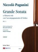 Paganini, Niccolò : Grande Sonata a Chitarra sola con l'accompagnamento di Violino M.S. 3