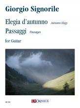 Signorile, Giorgio : Elegia d'autunno (Autumn Elegy) - Passaggi (Passages) for Guitar (2020)