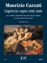 Cazzati, Maurizio : Capriccio sopra sette note for 2 Violins (2 Descant Recorders) and Continuo