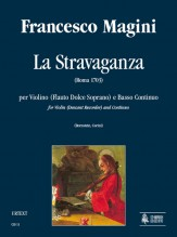 Magini, Francesco : La Stravaganza for Violin (Descant Recorder) and Continuo