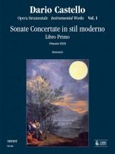 Castello, Dario : Instrumental Works - Vol. 1: Sonate concertate in stil moderno for two and three-parts and Continuo (Venezia, 1629) [Score]