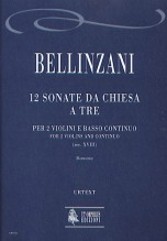Bellinzani, Paolo Benedetto : 12 Sonate da Chiesa a tre (18th century) for 2 Violins and Continuo