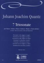 Quantz, Johann Joachim : 7 Triosonatas for Flute, Violin and Continuo (Flute and Harpsichord) - Vol. 7: Triosonata VII in G min