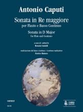 Caputi, Antonio : Sonata in D Major for Flute and Continuo