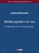 Bornstein, Andrea : Three-part Folksongs for Recorders, Voice and Harmonic Instrument