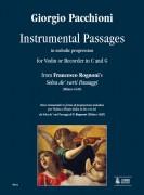 """Pacchioni, Giorgio : Instrumental Passages in melodic progression from Francesco Rognoni's """"Selva de' varii Passaggi"""" (Milano 1620) for Violin or Recorder in C and G"""