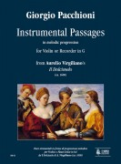 "Pacchioni, Giorgio : Instrumental Passages in melodic progression from Aurelio Virgiliano's ""Il Dolcimelo"" (ca. 1600) for Violin or Recorder in G"