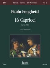 Fonghetti, Paolo : 16 Capricci (Verona 1598)