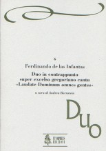 """Infantas, Fernando de las : Duo in contrappunto super excelso gregoriano cantu """"Laudate Dominum omnes gentes"""" (Venezia 1579)"""