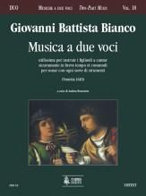 Bianco, Giovanni Battista : Musica a due voci utilissima per instruir i figliuoli a cantar sicuramente in breve tempo et commodi per sonar con ogni sorte di strumenti (Venezia 1610)