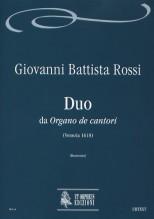 """Rossi, Giovanni Battista : Duo from """"Organo de cantori"""" (Venezia 1618)"""