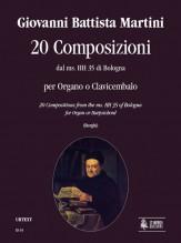 Martini, Giovanni Battista : 20 Compositions from the ms. HH 35 of Bologna for Organ or Harpsichord