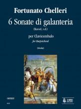 Chelleri, Fortunato : 6 Sonate di galanteria (Kassel s.d.) for Harpsichord