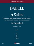 """Babell, William : 4 Suites of the most celebrated lessons from Handel's """"Rinaldo"""" and other operas by Bononcini, Gasparini, Haym, Handel for Harpsichord - Vol. 4"""