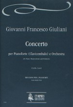 Giuliani, Giovanni Francesco : Concerto Op. XII for Piano (Harpsichord) and Orchestra [2 Pianos Reduction]