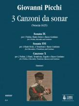 Picchi, Giovanni : 3 Canzoni da sonar (Venezia 1625)