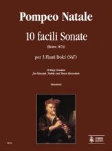 Natale, Pompeo : 10 Easy Sonatas (Roma 1674) for Descant, Treble and Tenor Recorders