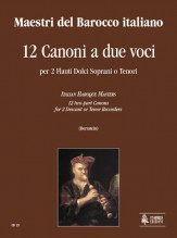 Italian Baroque Masters : 12 two-part Canons for 2 Descant or Tenor Recorders