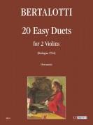 Bertalotti, Angelo : 20 Easy Duets (Bologna 1744) for 2 Violins