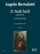 Bertalotti, Angelo : 21 Easy Studies (Bologna 1698) for Viol