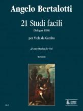 Bertalotti, Angelo : 21 Easy Studies (Bologna 1698) for Viol