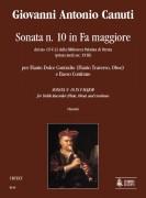 Canuti, Giovanni Antonio : Sonata No. 10 in F Major from the ms. CF-V-23 of the Biblioteca Palatina in Parma (early 18th century) for Treble Recorder (Flute, Oboe) and Continuo