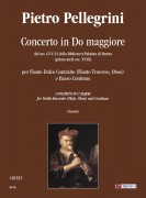 Pellegrini, Pietro : Concerto in C Major from the ms. CF-V-23 of the Biblioteca Palatina in Parma (early 18th century) for Treble Recorder (Flute, Oboe) and Continuo