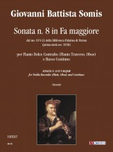 Somis, Giovanni Battista : Sonata No. 8 in F Major from the ms. CF-V-23 of the Biblioteca Palatina in Parma (early 18th century) for Treble Recorder (Flute, Oboe) and Continuo