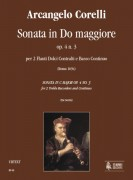 Corelli, Arcangelo : Sonata in C Major Op. 4 No. 3 for 2 Treble Recorders and Continuo