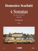 Scarlatti, Domenico : 4 Sonatas (K. 2, 4, 6, 9) for Keyboard
